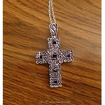 Fancy Cross Necklace, Large Cross Christian Necklace