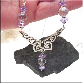 Celtic Necklace with Crystals
