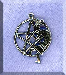 Sterling Silver Kokopelli Pentacle Pendant, Southwestern Pentagram Necklace
