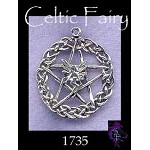 Sterling Silver Celtic Fairy Pentacle Pendant