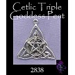 Sterling Silver Triquetra with Pentacle Pendant