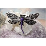 Dragonfly Jewelry Centerpiece with Eggplant Frost Patina