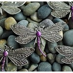 Dragonfly Jewelry Centerpiece with Metallic Purple Patina