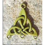 SOLDOUT - Celtic Jewelry Finding Triquetra Knot with Golden Olive Patina