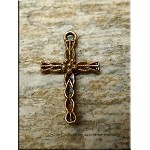Cross Charm with Copper Rust Patina