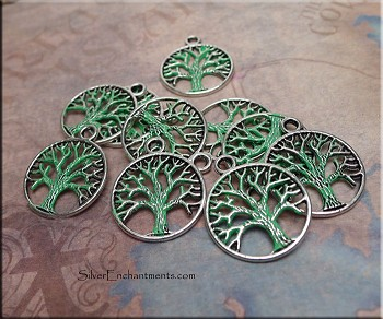 Tree of Life Charm, Jade Patina