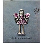 SOLDOUT - Love Fairy Charm with Pink Patina
