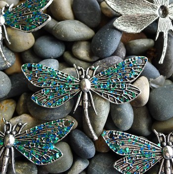 Dragonfly Jewelry Finding with Patina
