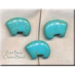 ZSOLDOUT - Turquoise Beads, Bear Charm Beads