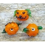 Halloween Beads, Jack-o-Lantern Pumpkin Bead, Halloween Art Glass Focal Bead
