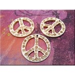 Carved Bone Peace Sign Pendant - Bone Peace Symbol Pendant