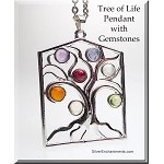 Tree of Life Pendant with Chakra Gemstones