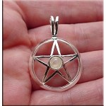 ZSOLDOUT - Silver Pentacle Pendant with Moonstone