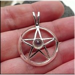 SOLDOUT - Silver Pentacle Pendant with Amethyst