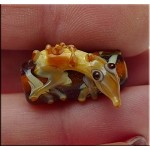 Glass Lizard Beads, Lampworked Gecko Pendant Beads, avg 21x13x10mm, 1pc