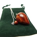 Red Jasper Pendulum Teardrop Gemstone Pendulum with Pouch for Energy work, Dowsing, and Divination - SOLD