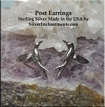 Sterling Silver Hummingbird Post Earrings