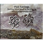 Celtic Heart Post Earrings, Celtic Earrings