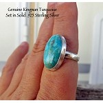 Kingman Turquoise Ring Size 8, Sterling Silver - SOLD