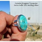 Kingman Turquoise Ring Size 9, Sterling Silver - SOLD