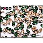 Rizo Beads, Emerald Apollo Gold