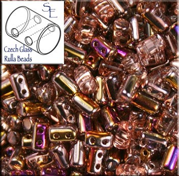 Rulla Beads, Artemis Gold, 10g Czech Rulla Seed Beads 3x5mm