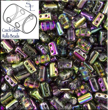 Rulla Beads, Magic Orchid, 10g Czech Rulla Seed Beads 3x5mm