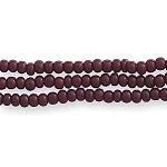 Czech Seed Beads, Opaque Medium Brown, Size 11/0, Hank