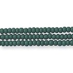 Czech Seed Beads, Opaque Dark Green, Size 11/0, Hank