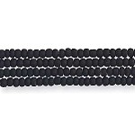 Czech Seed Beads, Opaque Matte Black, Size 12/0, Hank