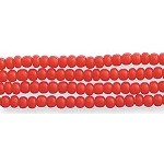 Czech Seed Beads, Opaque Dark Red, Size 12/0, Hank