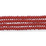 Czech Seed Bead Hank, Opaque Mahogany Red, Size 12/0