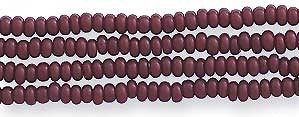 Czech Seed Bead Hank, Opaque Medium Brown, Size 12/0