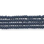 Czech Seed Beads, Opaque Deep Mysterious Blue, Size 12/0, Hank