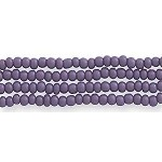 Czech Seed Beads, Opaque Dark Purple, Size 12/0, Hank