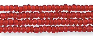 Czech Seed Bead Hank, Garnet Red, Size 12/0