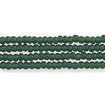 Czech Seed Bead Hank, Deep Emerald Green, Size 12/0