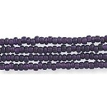 Czech Seed Bead Hank, Silver-lined Deep Amethyst Purple, Size 12/0