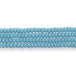 Czech Seed Bead Hank, Opaque Green Turquoise, Size 13/0