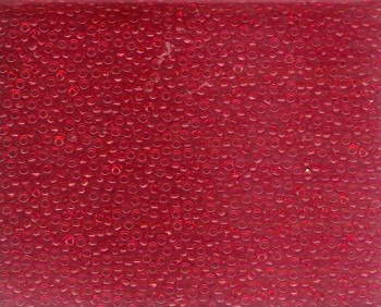 Miyuki Seed Beads, Size 11, Transparent Medium Red