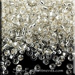 Miyuki Round Seed Beads, 11/0 Size Silver Lined Crystal