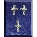Sterling Silver Celtic Jewelry Set, Celtic Cross Stud Earrings and Charm