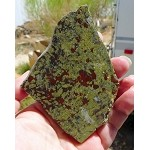 Dragon Blood Jasper Slab, Dragonblood Stone, 87x77x8mm