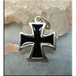 Sterling Silver and Black Maltese Cross