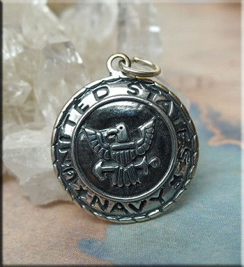 Sterling Silver United States Navy Charm