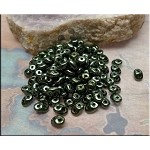 SuperDuo Beads, METALLIC GREEN Super Duo Beads