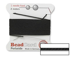Griffin Silk Beading Cord Size 6, Black