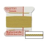 GOLDENROD Griffin Silk Beading Cord with Needle, Size 4