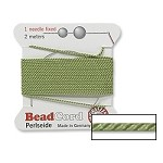 JADE Griffin Silk Beading Cord with Needle, Size 2