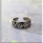 ZSOLD / Sterling Silver Spiral Toe Ring